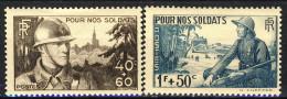 Francia 1940 Serie N. 454-457 Pro Soldati MH GO Catalogo € 4,60 - Francia
