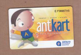 AC- MULTIPLE RIDE BUS PLASTIC CARD ANTALYA, TURKEY PUBLIC TRANSPORTATION - Titres De Transport