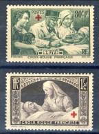 Francia 1940 Serie N. 459-460 Pro Croce Rossa MNH GO Catalogo € 28 - Francia