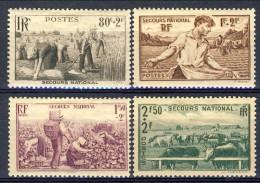 Francia 1940 Serie N. 566-469 Pro Soccorso Nazionale MH GO Catalogo € 8,50 - Francia