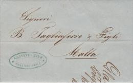Turkey EL 1864 Constantinople -  Malta - Turkey