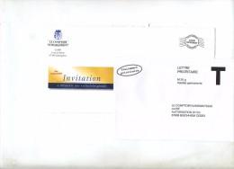 Enveloppe Reponse T Comptoir Numismatique + Destineo  Pseudo Flamme - Ganzsachen