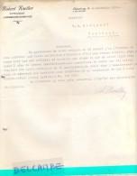 Factuur Facture - Lettre - Robert Koeller - Luxembourg - Bonnevoie 1939 Naar Kortrijk - Luxembourg