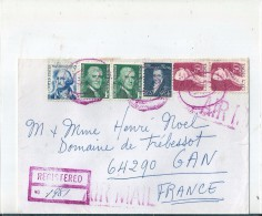 Enveloppe  -  Cachet  Au  Depart   D ' OAKHURST   (  U.S.A.  )   à  Destination  De   GAN  ( 64 )   Air  Mail - Amérique Centrale