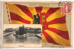 Suisse. Geneve. Carte Illustrée - GE Geneva