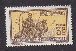 Upper Volta, Scott #62, Mint Hinged, Hausa Warrior, Issued 1928 - Neufs