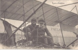 69 - LYON AVIATION - 72 PAULHAN (Biplan Farman) Au Départ Pour La Course Des Passagers - Circulé 1910 - Airplanes