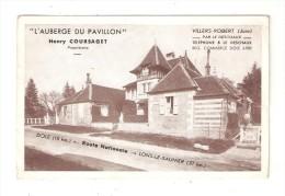 CPA Publicitaire 39 VILLERS ROBERT Auberge Du Pavillon  Bord Route Nationale Entree Dole & Lons Le Saulnier - Frankreich
