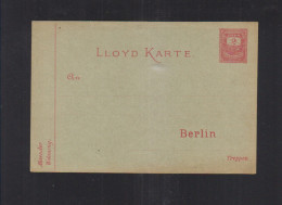 Dt. Reich Lloyd Karte Ungebraucht - Privatpost