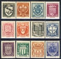 Francia 1941 Serie N. 526-537 Stemmi Di Città MNH GO Catalogo € 38 - Unused Stamps