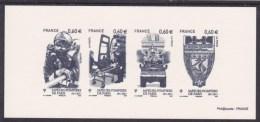 GRA4583  Pompier Lance Brancard Defile Arc De Triomphe Blason 4583 4584 4586 4587 France 2011 Gravure Officielle - Bombero