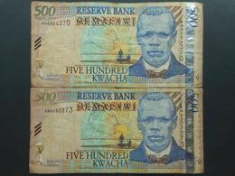 Malawi 500 Kwacha 2005 (Lot Of 2 Banknotes) - Malawi