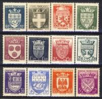 Francia 1942 Serie N. 553-564 Stemmi Di Città MNH GO Catalogo € 60 - Unused Stamps