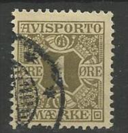 1914 USED Danmark,  Avisporto (newspapers), Watermark Crosses - Portomarken