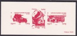 GRA4589  Pompier Camion Casque Grande Echelle 4589 4590 4591 France 2011 Gravure Officielle - Bombero