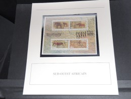 AFRIQUE DU SUD -  Bloc Luxe Avec Texte Explicatif - Belle Qualité - À Voir -  N° 11689 - Hojas Bloque