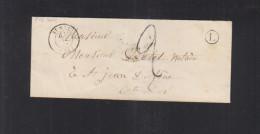 Envelope St. Wit Pour St. Jean De Losne - Poststempel (Briefe)