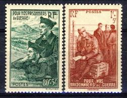 Francia 1941 Serie N. 474-475 Pro Prigionieri Di Guerra MNH GO Catalogo € 4,15 - Unused Stamps