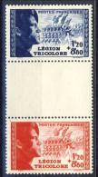 Francia 1942 Serie N. 565-566 Pro Legione Tricolore (con Intervallo) MNH GO Catalogo € 27,50 - Unused Stamps