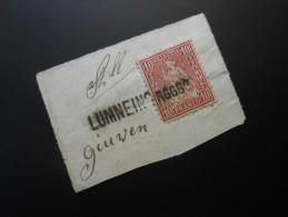 CH ZNr.38  10C  Sitzende Helvetia 1867 - Briefstück - 1862-1881 Sitted Helvetia (perforates)