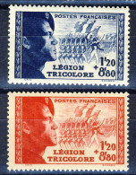 Francia 1942 Serie N. 565-566 Pro Legione Tricolore MNH GO Catalogo € 25 - Unused Stamps