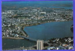 Carte Postale 56. Lorient Lanester Vue D´avion  Trés Beau Plan - Lorient