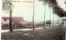 FOURNES-EN-WEPPES L'ILE DE COUPIGNY (CARTE COLORISEE) - Non Classificati