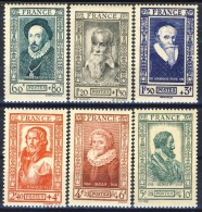 Francia 1943 Serie N. 587-592 Celebrità MNH GO Catalogo € 15 - Unused Stamps