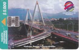 TARJETA DE COLOMBIA DE TELEPSA DEL VIADUCTO PEREIRA - DOSQUEBRADAS - Colombia