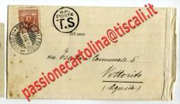 Foggia LETTERA DA ROSETO VALFORTORE CON TESTO FP VG 1912 PER VITTORITO L'Aquila - Foggia