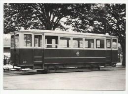 TRAIN - TRAMWAY - GENEVE - C213- EX ST-ETIENNE - QUAI DE LA POSTE - Verso - Tramways