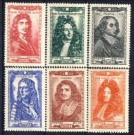 Francia 1944 Serie N. 612-617 Celebrità MNH GO Catalogo € 12 - Unused Stamps