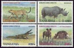 TANZANIA   2184-7 MINT NEVER HINGED SET OF STAMPS ANIMALS - WILDLIFE - Stamps