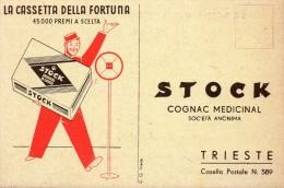 TRIESTE   ,  STOCK   COGNAC  , Pubblicitaria ,  Liquori - Trieste