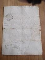 CACHET GENERALITE BORDEAUX 1733  Acte DORDOGNE 1734 Le Bugue Paroisse De Campagne Dix Deniers - Algemene Zegels