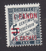 French India, Scott #J10, Mint Hinged, French Colonies Postage Due Surcharged, Issued 1928 - India (1892-1954)