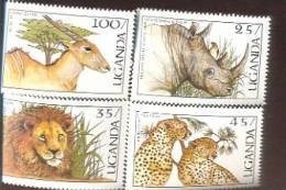 UGANDA    538-9-40;42  MINT NEVER HINGED SET OF STAMPS ANIMALS - WILDLIFE - Unclassified