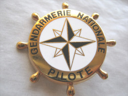 RARE INSIGNE DE LA GENDARMERIE NATIONALE BREVET PILOTE EMBARCATION ETAT EXCELLENT - Police & Gendarmerie
