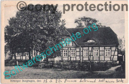 Rittergut BURGHAGEN Bei Perleberg Prignitz Fachwerk Herrenhaus 12.5.1925 Gelaufen - Perleberg