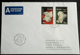 ISLAND  Nice Cover To Bosnia,SARAJEVO  1999 Y. (minerals) - Minerals