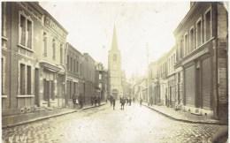 DENAIN - Rue De Villars Et L´ Eglise - Carte Photo - Guerre 1914-18 - Soldats Allemand - Denain