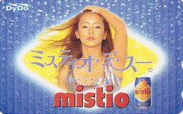 Télécarte Japon - FEMME TOP MODEL - NAMIE AMURO - Boisson MISTIO - GIRL & DRINK Japan Phonecard  2238 - Personnages