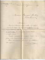 Vp54 Relevé De Compte CARRARD à Lausanne De Mme Raccaud Gindroz  1899 Et 1898 (2 Feuilles ) - Banque & Assurance