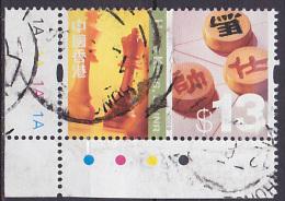 Timbre Oblitéré N° 1040(Yvert) Hong Kong 2002 - Echecs Et Xiangqi - Oblitérés