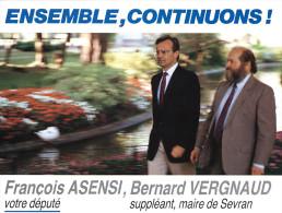 FRANCOIS ASENSI - Ensemble, Continuons ! François Asensi, Bernard Vergnaud - Personnages