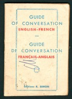 """""""DICTIONNAIRE AVEC PRONONCIATION ENGLISH - FRENCH"""" - Années 40 - Language Study"""