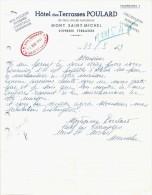 Document Du 23/05/1943 HOTEL DES TERRASSES POULARD - Mont-Saint-Michel - 50 - France