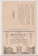 Vieux Papier Publicitaire - MALACEINE - Mention N1 PUZZLE PARISYS La Maison MONPELS Propriétaire De La Crème MALACEINE - Publicités