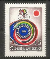 AUTRICHE:. Championnat Du Monde De Cyclisme à Vienne & Villach.  Un Timbre Neuf ** - Ciclismo