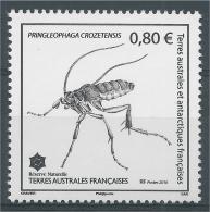 French Antarctic (FSAT), Insect, Pringleophaga Crozetensis, 2016, MNH VF - Unused Stamps